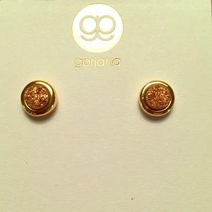 New Gorjana rose druzy stud earrings